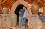 Alex and Connie Outside East Fork Pottery's Kiln